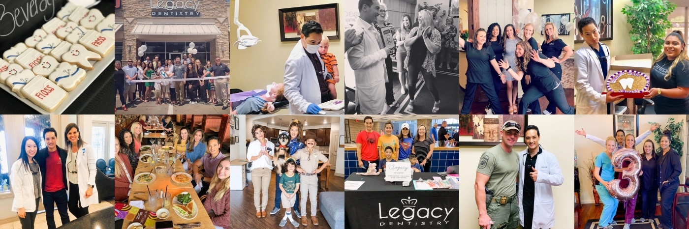 Collage of Instagram images from Legacy Dentistry